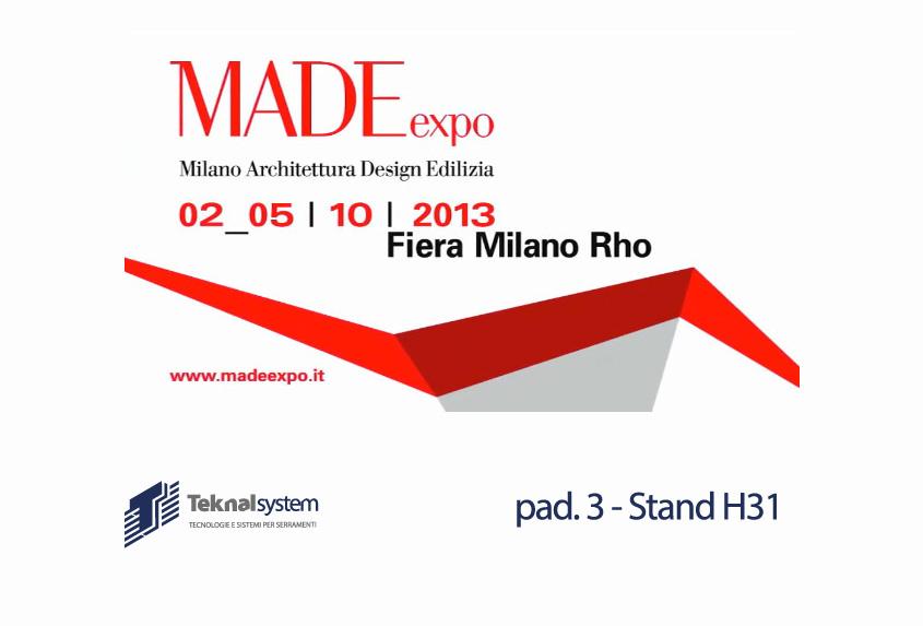 [:it]Teknalsystem al MADE Expo 2013[:en]Teknalsystem at MADE Expo 2013[:]